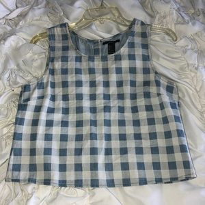 Forever 21 gingham print crop top